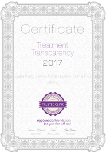 Certificate of Treatment Transparency | Fertility Clinic in Spain