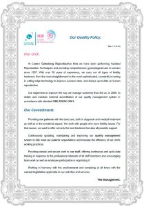 Quality and Environmental Policy / UNE-EN ISO 9001 | Fertility Clinic in Spain